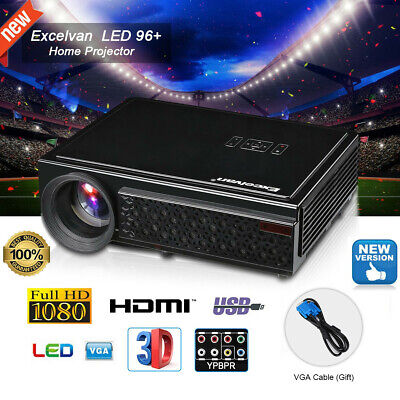 LED LCD Video Projector 1080P Full HD 5000 Lumens 3D Home Theater HDMI/ATV/USB