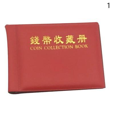 60 Openings Coins Album Holder Pocket Book Collecting Penny Storage Portable de*