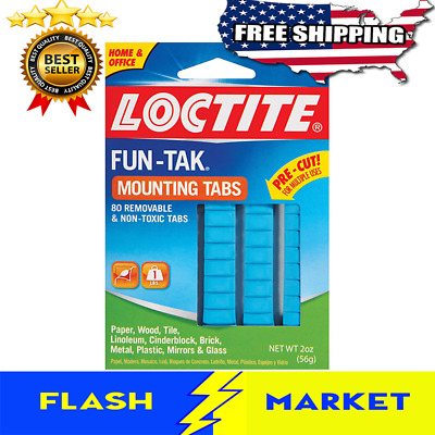 Adhesive Mounting Putty Tabs For Wall Poster Photo Removable Sticky Tack 2-Ounce