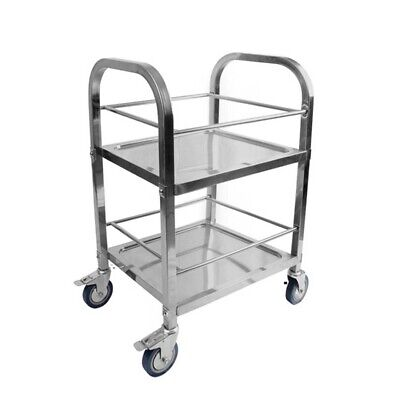 SOGA Stainless Steel Drink Wine Food Cart Trolley Commercial Kitchen Utility