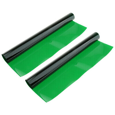 """2x Color Gel Filter Sheets appx 16x20"""" Photo Video Theater Stage  Green"""