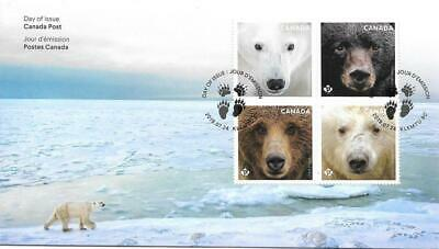 2019 Canada Post 🍁🐻 BEARS - FIRST DAY COVER; FDC (UR Variety) 🐻🐻🍁Ships Free