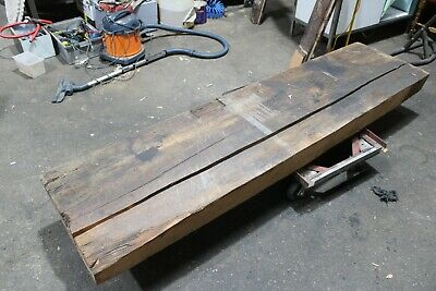 Large Slab of Timber OLD ANTIQUE Bar Red Gum PINE Wood Wooden Work Bench