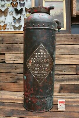 Vintage Brass Copper ICON Fire Extinguisher by A.L. Campbell & Co Melbourne