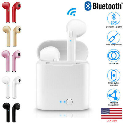i7s TWS Wireless Bluetooth Headphones Earbuds Earphone For Apple iPhone Android