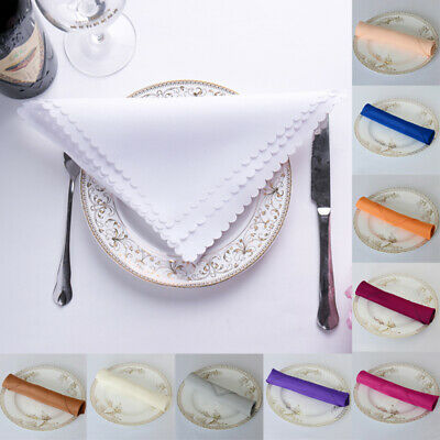 48x48CM Solid Lace Napkin Handkerchief Tea Towels Party Dinning Table Decor