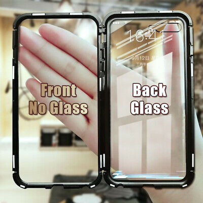 For Samsung Galaxy S10 Note 10 Magnetic Adsorption Tempered Glass Case Cover