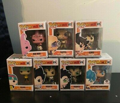 DBZ Lot of 7 Funko Pops! All with Protectors!