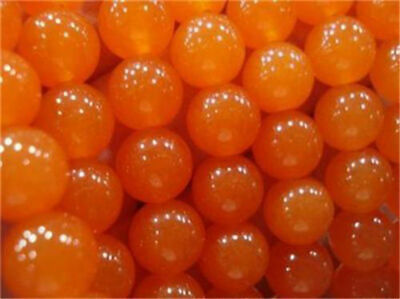 """Natural 6/8/10mm Rare Orange South America Topaz Round Loose Beads 15"""" AAA"""