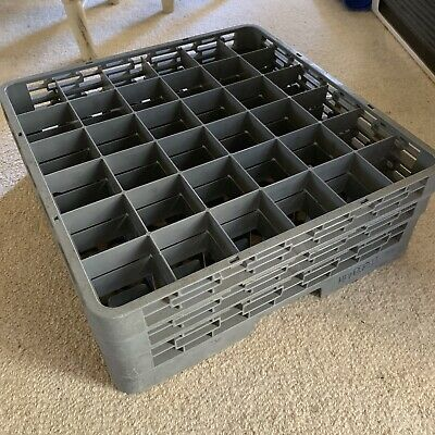 Commercial Kitchen Dishwasher Glassware Glass Carry Rack Basket Tray