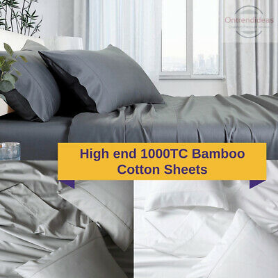 1000TC Bamboo Cotton Sheet Set   High Quality Bamboo Sheets Soft Silky Touch