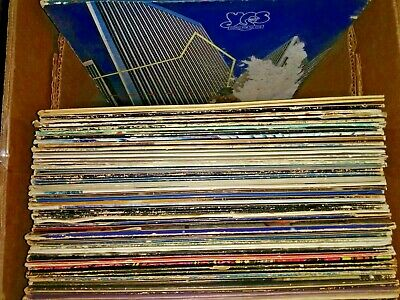 54 CLASSIC ROCK/POP RECORD ALBUM LOT Zeppelin,Yes;The Fixx;Boston;Styx;Seger