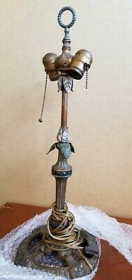 Vintage Brass Ornate Heavy French Style? Dual Articulating Socket Lamp