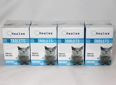 40 Tablets Healex Cat Dewormer Tablets for Tapeworm & Roundworm 4 boxes of 10 ea