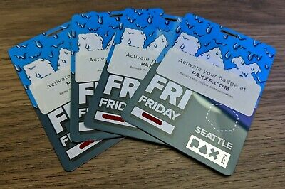 PAX West (Prime) 2019 - Friday Badge - Penny Arcade Expo Seattle Fast Shipping!