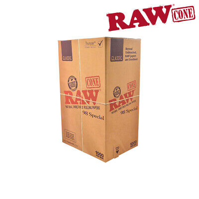 RAW Pre-rolled Classic Cones 98 Special - 1000 BOX!!!