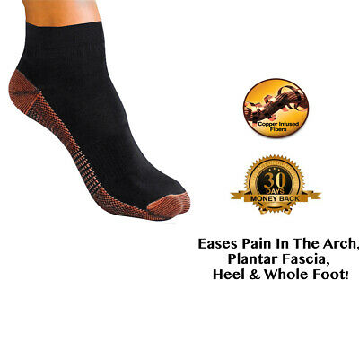 2*Copper Infused Foot Compression Relieve Heel Swelling Varicosity Sock Comfort
