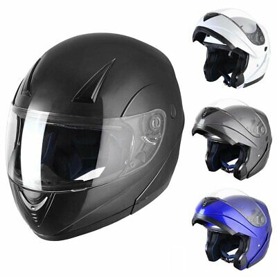 Modular Flip Up Front Motorbike Full Face Helmet Motorcycle Scooter Crash 3Color