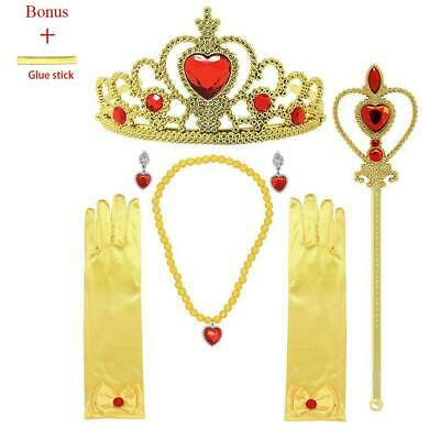 Wand and Necklace Tiara 4 Set Princess Belle Dress Up Party Accessories Gloves