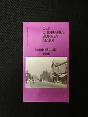 Old Ordnance Survey Map Leigh 1905 South