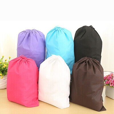 WR_ Portable Foldable Travel Laundry Shoe Pouch Tote Drawstring Storage Packing
