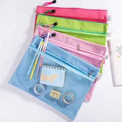 Cute Canvas Document Wallets File Folders Pencil Case Make Up Solid Bags LA