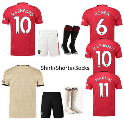 19/20 Red Football Jersey Authorized Red Home Kit for Kid 3-14 Boys Suit & Socks