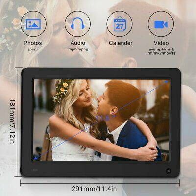 """12""""inch LED Digital Photo Picture Frame Movie MP4 Player Alarm Clock+Remote"""