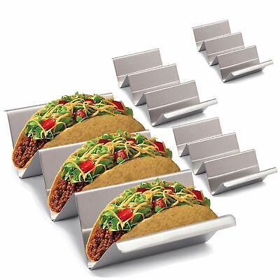 Metal Taco Stands – 4 Pack Stylish Stainless Steel Taco Holder Stand | Rack