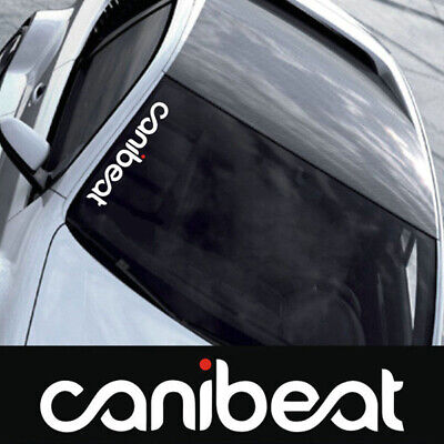 CANIBEAT Hellaflush Graphic Front Windshield Decal Vinyl Car Sport Sticker~JP