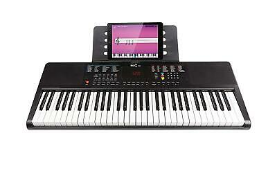 61-Key Portable Electric Keyboard Piano With Power Supply, Sheet Music Stand And