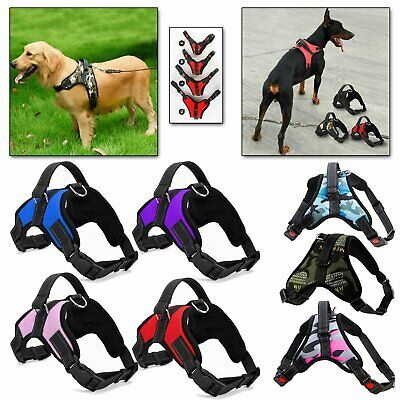Dog Pet Vest Harness Strap Adjustable Pull Leash Nylon Small Medium Large XL