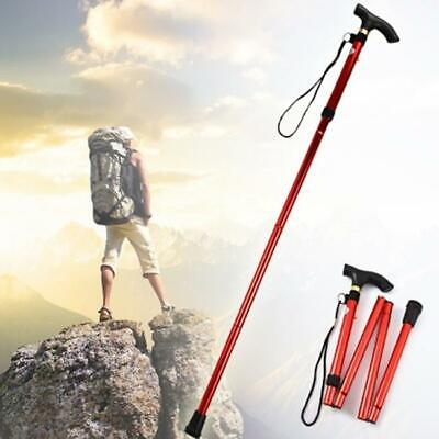 New All-Terrain Cane Folding Walking Stick Adjustable Wrist Strap T