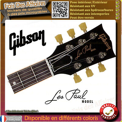 sticker autocollant GIBSON LES PAUL GUITARE GUITARE HEADSTOCK rock decal