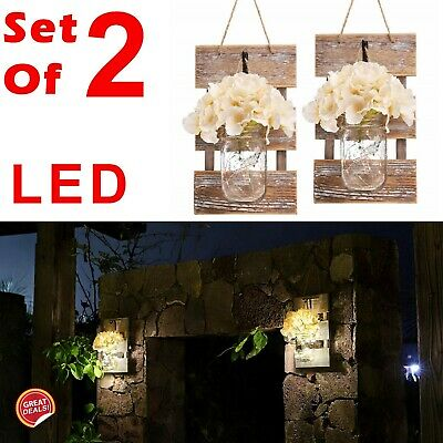Outdoor Wall Decor Large Patio Lights Battery Operated Vintage Home Rustic Set