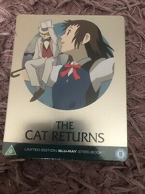 The Cat Returns Limited Edition Steelbook Blu-ray Ghibli Brand New Sealed