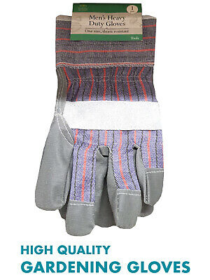 Heavy Duty Thick Gardening Gloves Men's One Size £4.99 Free Post