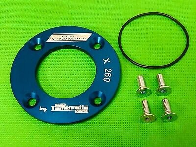 Lambretta Cnc Casa Lambretta Drive Side Retaining Plate In Anodised Blue