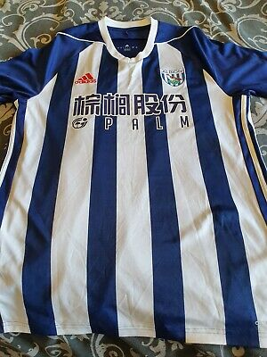 2017-2018 West Bromwich Albion Home Football Shirt, Adidas, West Brom, L.