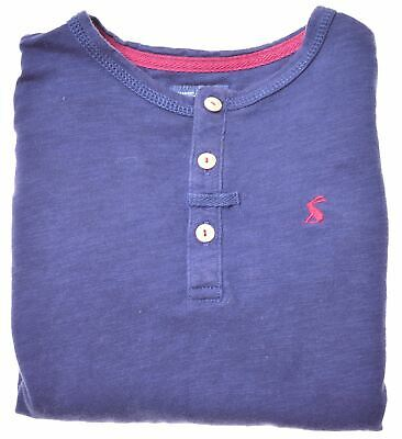 JOULES Girls Top 3/4 Sleeve 7-8 Years Navy Blue Cotton  BU04