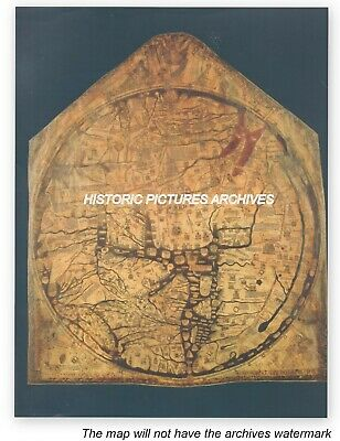 Large Hardback World Map The Medieval Hereford Mappa Mundi 1300 Ad