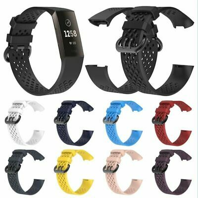 Watch Bands Wrist Strap For Fitbit Charge 3 Silicone Sport Straps Smart Bracelet
