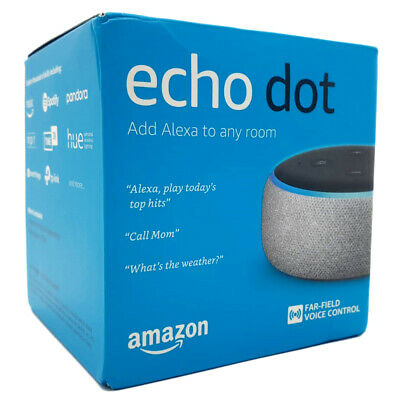 New Amazon Echo Dot 3rd Generation Smart Speaker With Alexa Voice - Grey