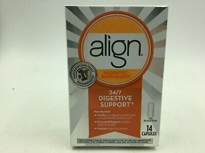 Align Probiotic Supplement 24/7 Digestive Support 14 Capsules Exp: 12/2021