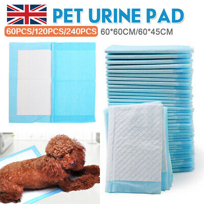 240 x Puppy Toilet Potty Pads Indoor Training Pet Dog Pee Wee Poo Mat Disposable