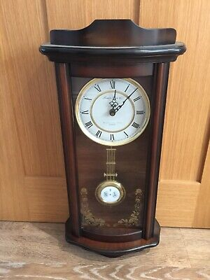The London Clock Company Westminster Chimes Walnut Finish