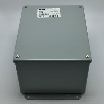 "NEW HOFFMAN A10086SC SCREW COVER STEEL JUNCTION BOX 10/"" x 8/"" x 6/"""