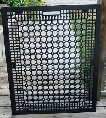 "Antique Cast Iron 32.5"" x 26.5"" Victorian Cold Air Return Floor Grate Register"