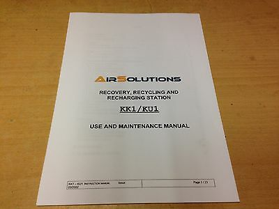 Air Solutions Kk1/Ku1 User Manual