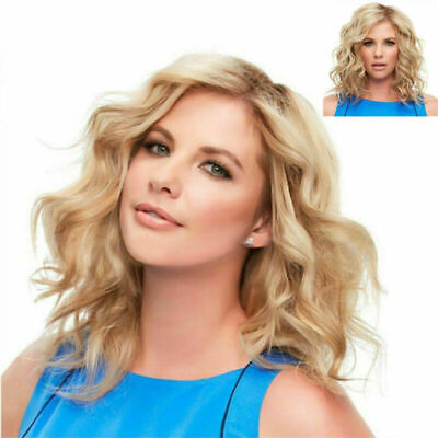 Lady Women Short Kinky Curly Wigs Blonde Full Hair Wig Heat Resistant Party Wig